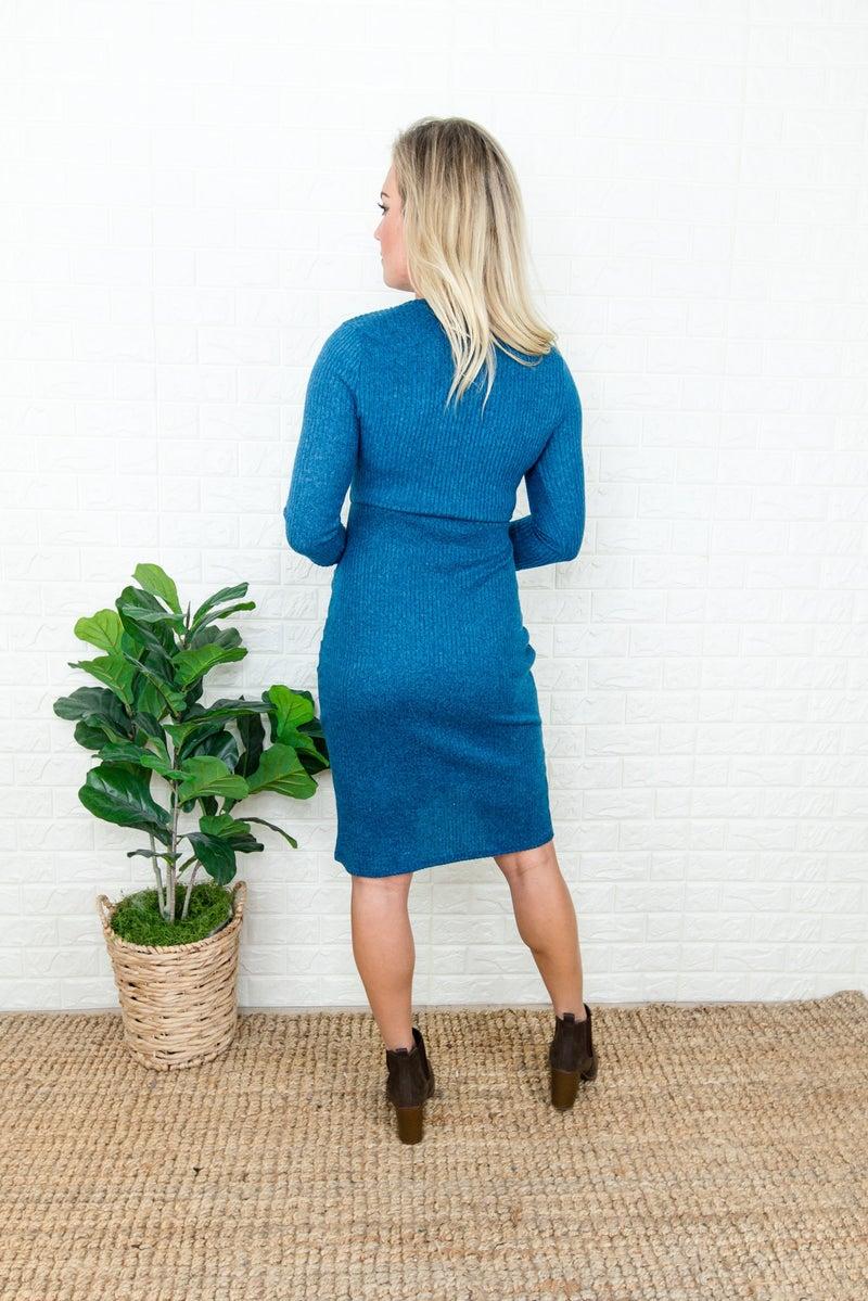 Classy & Slimming Teal Dress