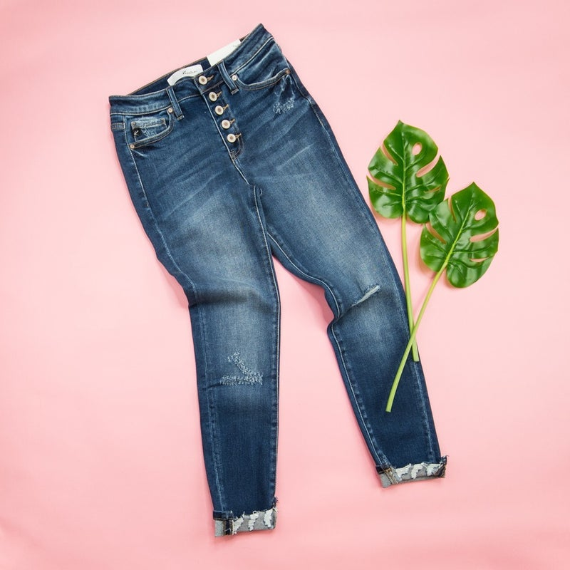 KanCan Dark Wash Mid Rise Jeans