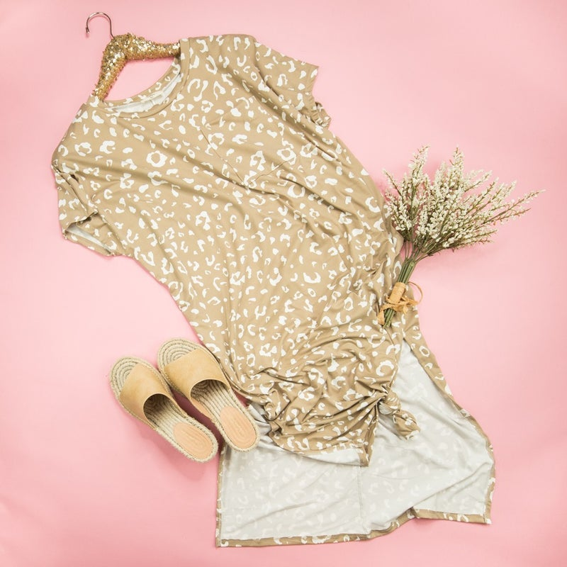 Latte Leopard Dress