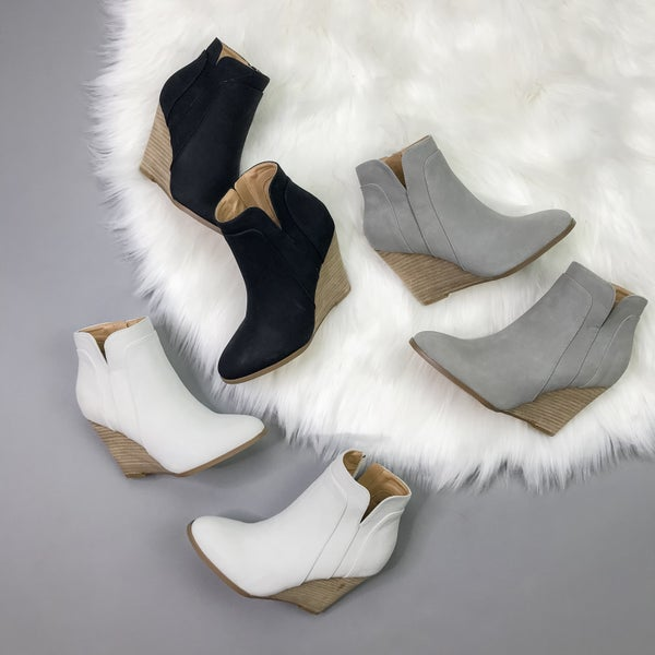 Fall Wedge Bootie *all sales final*