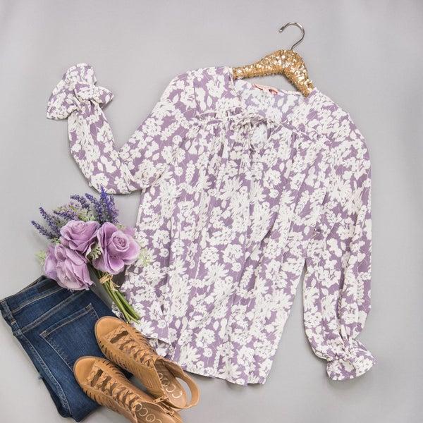 Lilac Ruffle Blouse