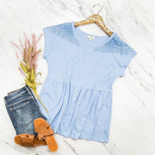 Dreaming of Blue Blouse *ALL SALES FINAL*