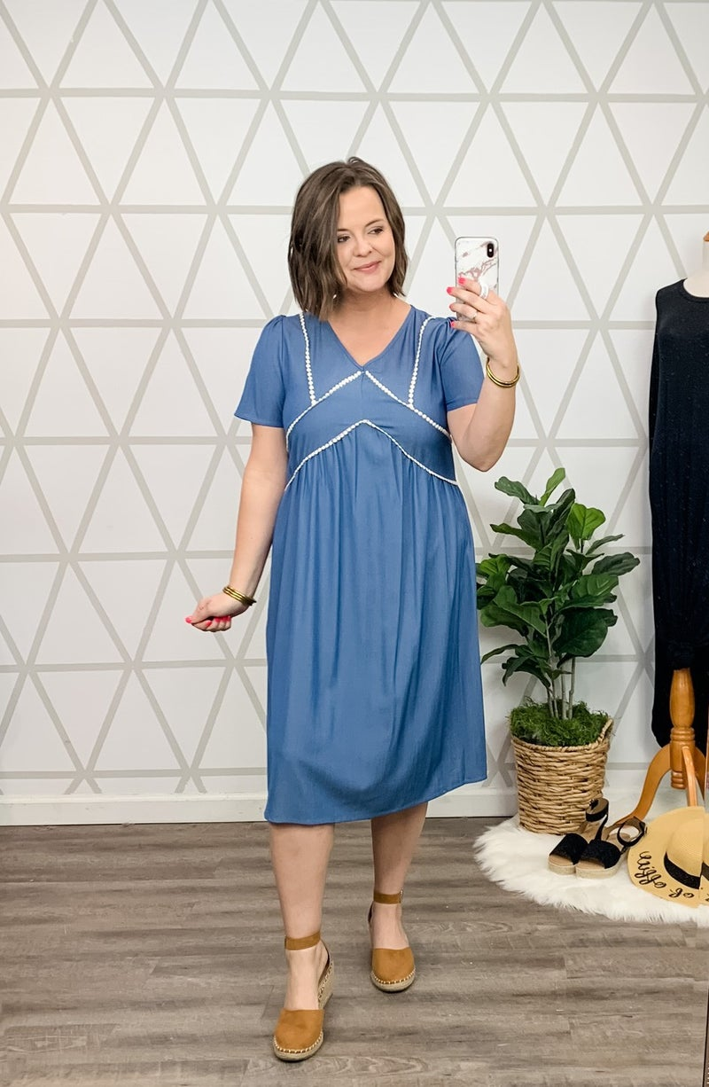 Conservative Denim Dress *all sales final*