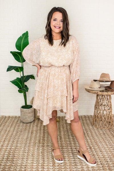 Soft Print Blended Dress