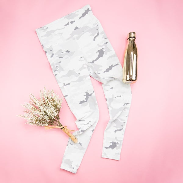 Winter White Camo Leggings