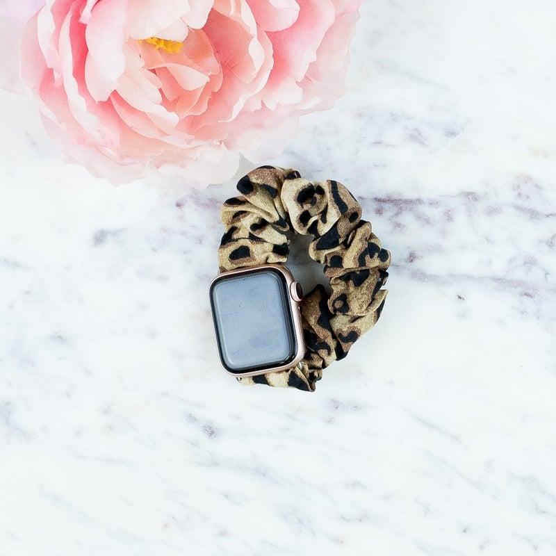 Leopard Apple Watch Scrunchie