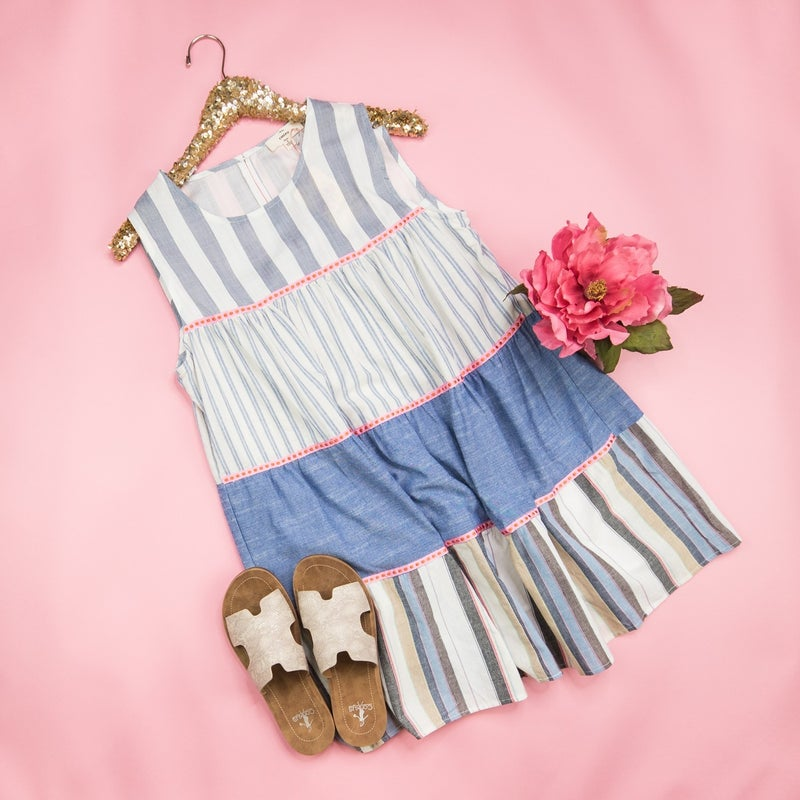 Girly Girl Striped Dress  *ALL SALES FINAL*