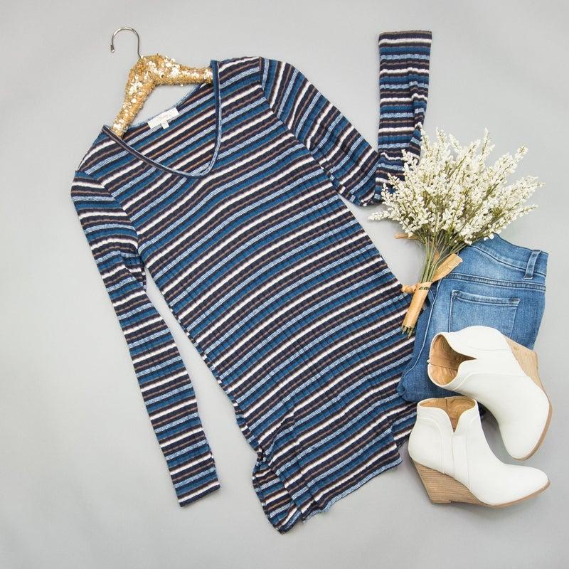 Plush Stripe Tunic *ALL SALES FINAL*