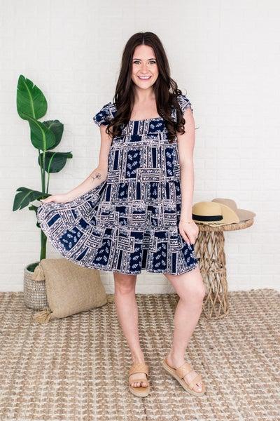 Little Miss Navy Girl Dress