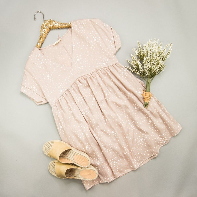 Taupe Star Dress