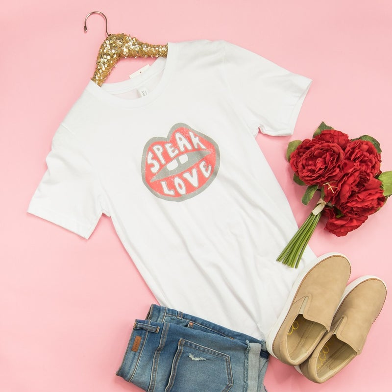 Speak Love White Tee