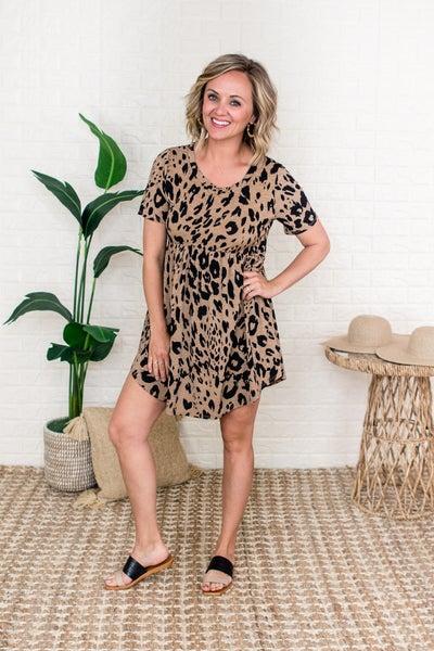 Mocha Leopard Dress