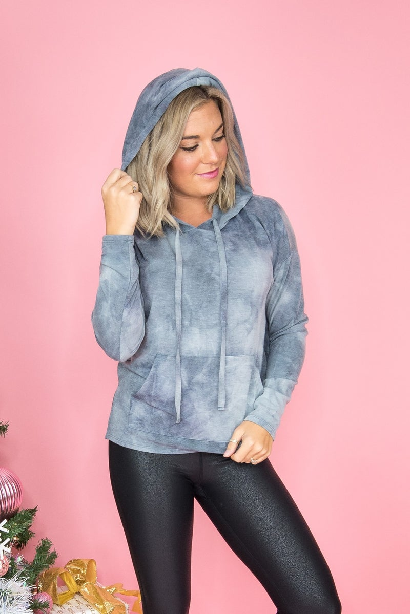 Flaunt Friday // Lightweight Charcoal Dye Hoodie *all sales final*