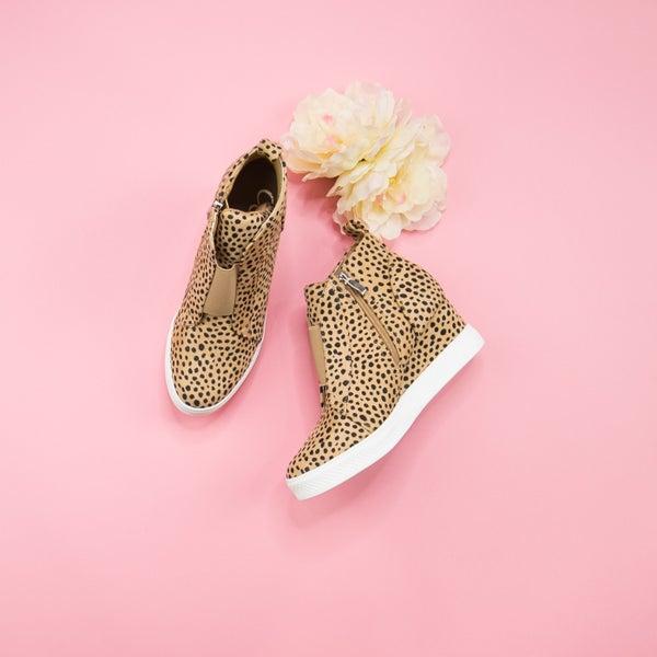 Spotty Dot Zoey Wedge Sneaker *all sales final*