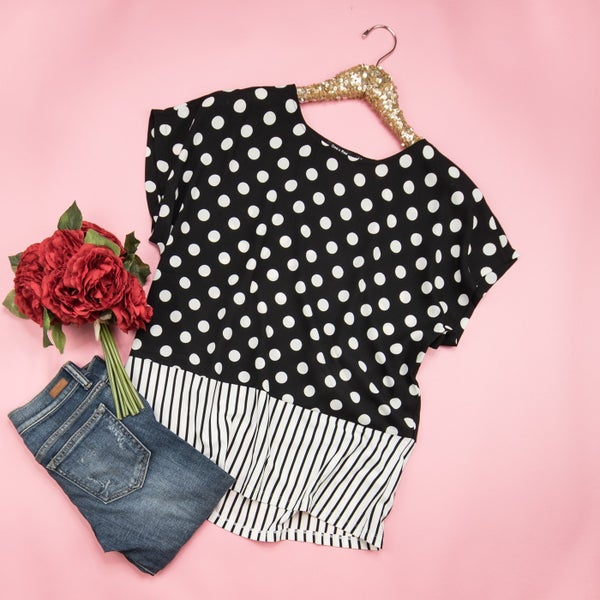 Stripes&Spots Blouse *all sales final*