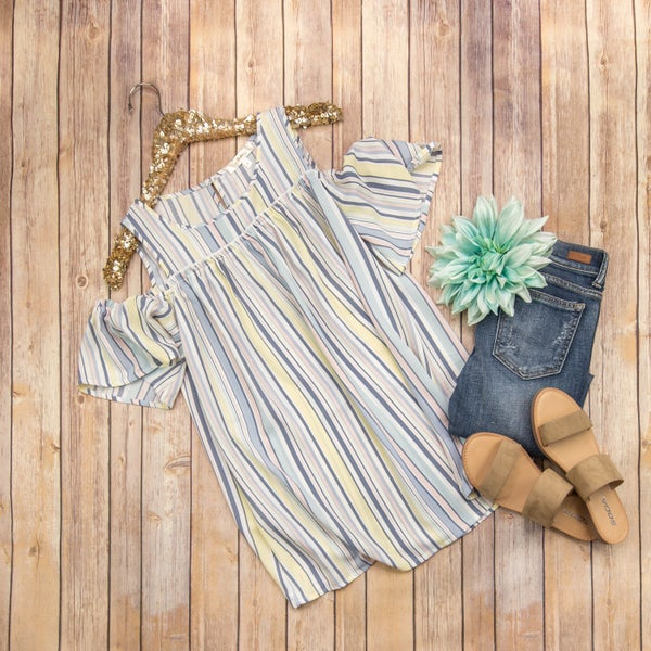 Peep Shoulder Stripe  *ALL SALES FINAL*