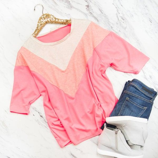 Neon Pink Boyfriend Top
