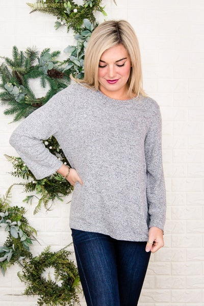 Gray Flare Top *all sales final*
