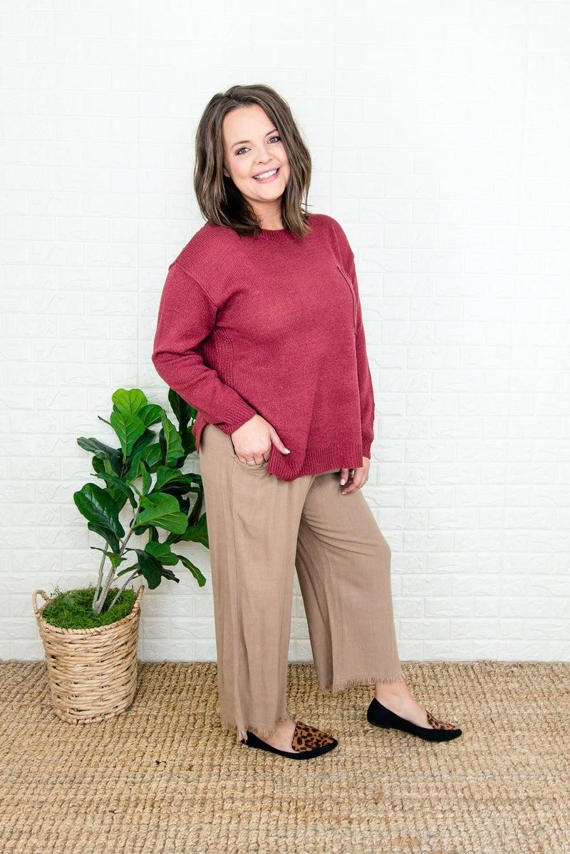 Fringe Linen Pants (repost)