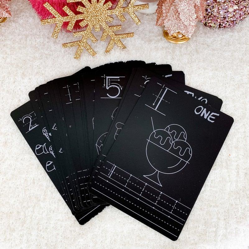 Number Chalkboard Cards