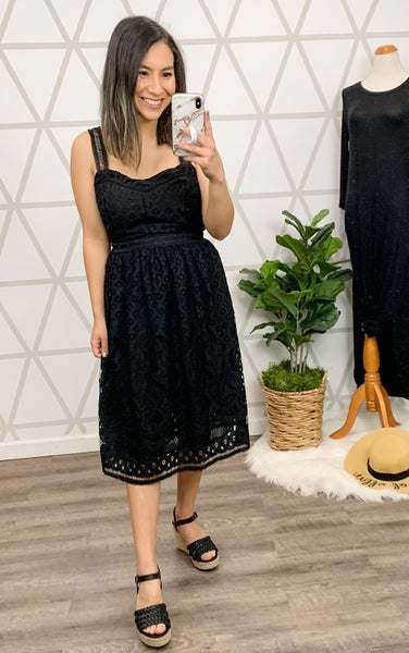 Black Lace Dress *all sales final*