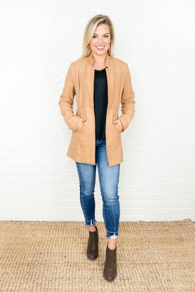 Flattering Camel Jacket