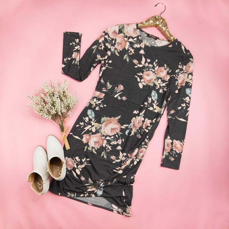 Soft Floral Blogger Dress *all sales final*
