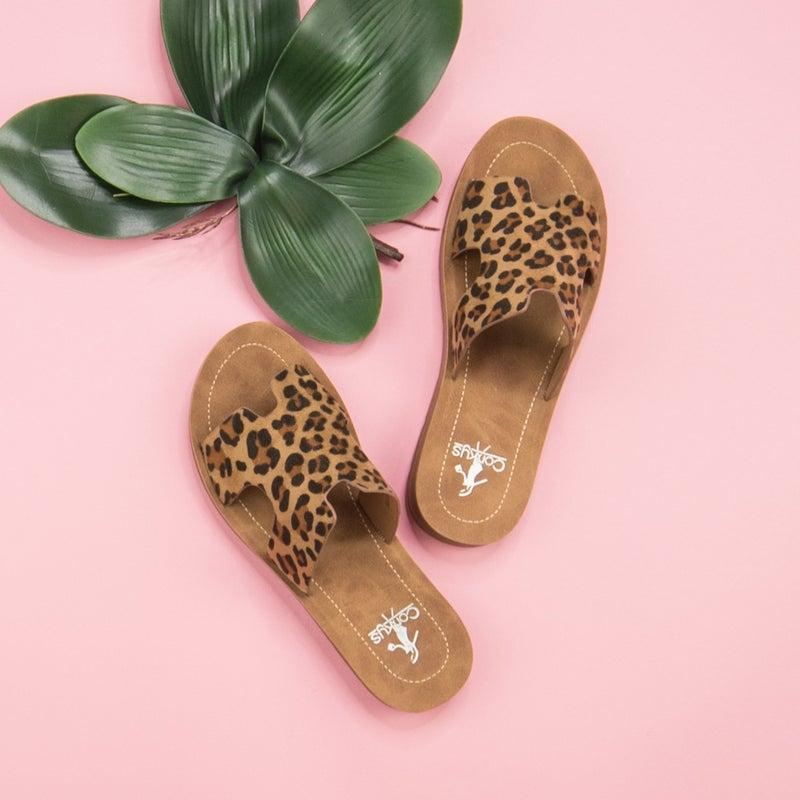 Leopard Corky Sandal