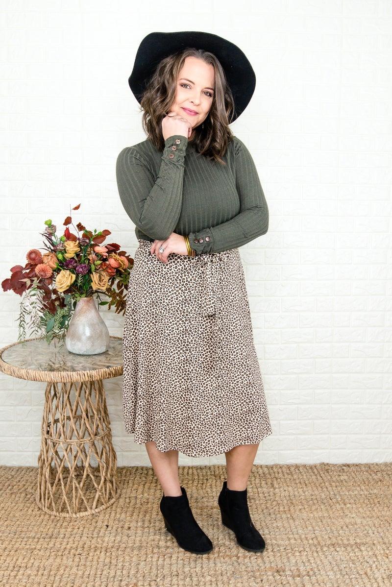 Fall Leopard Midi Dress
