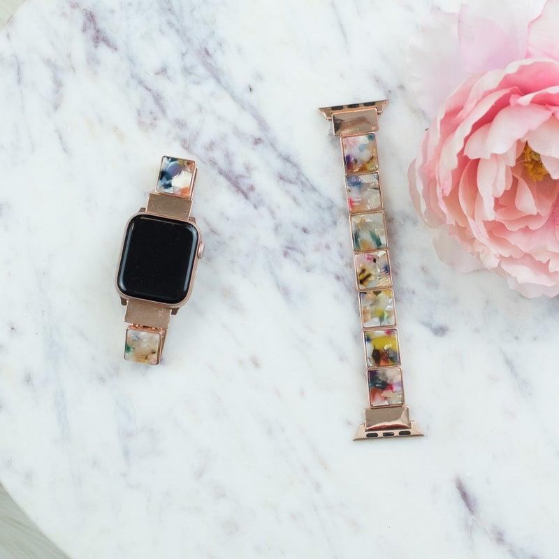 Acrylic Rainbow Apple Watch Band