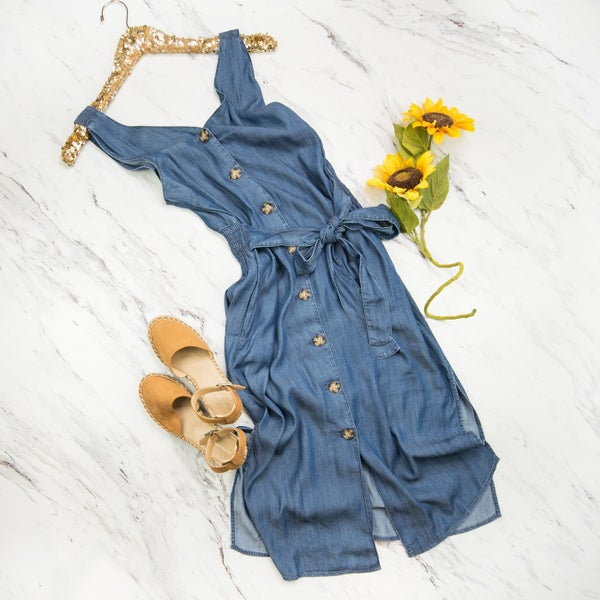 Staccato Denim Dress *all sales final*