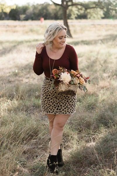 Spotty Dot Taupe Skirt