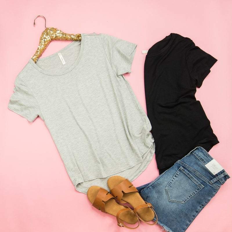 Simple Scooped Tee