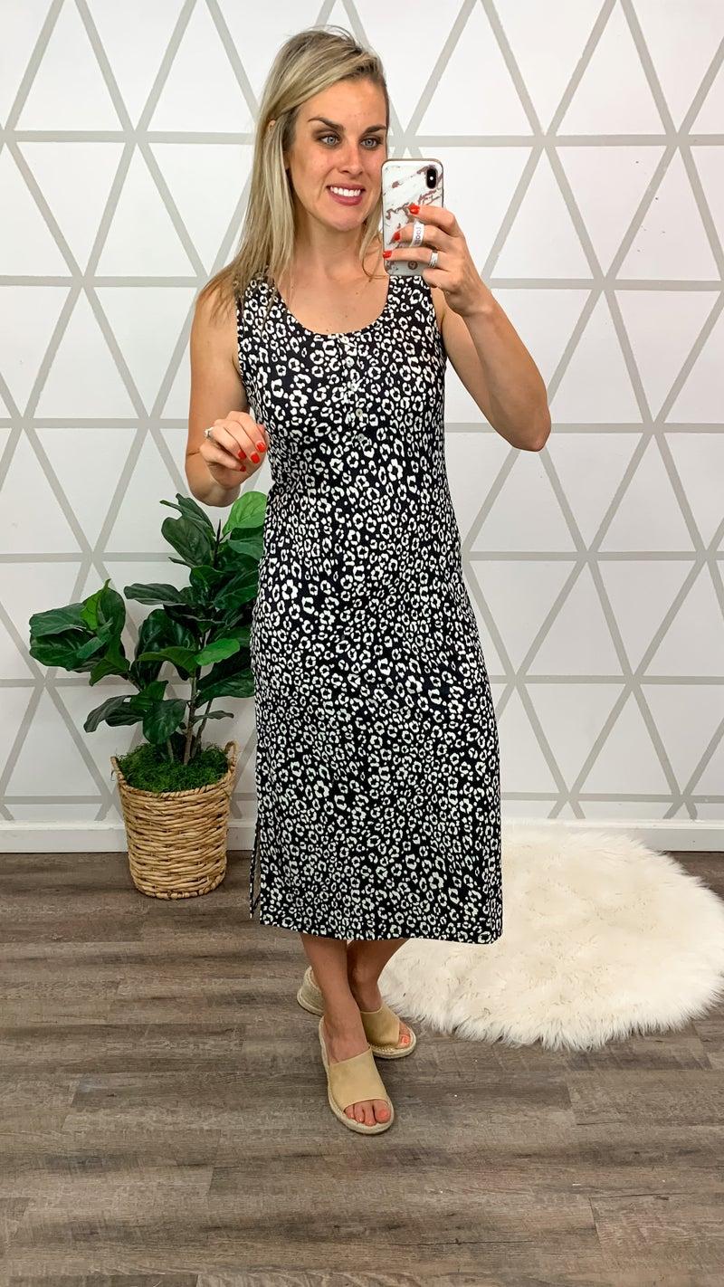 Cool Finish Leopard Midi Dress *ALL SALES FINAL*