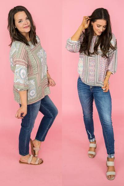 Picture Perfect Printed Tee *Final Sale*