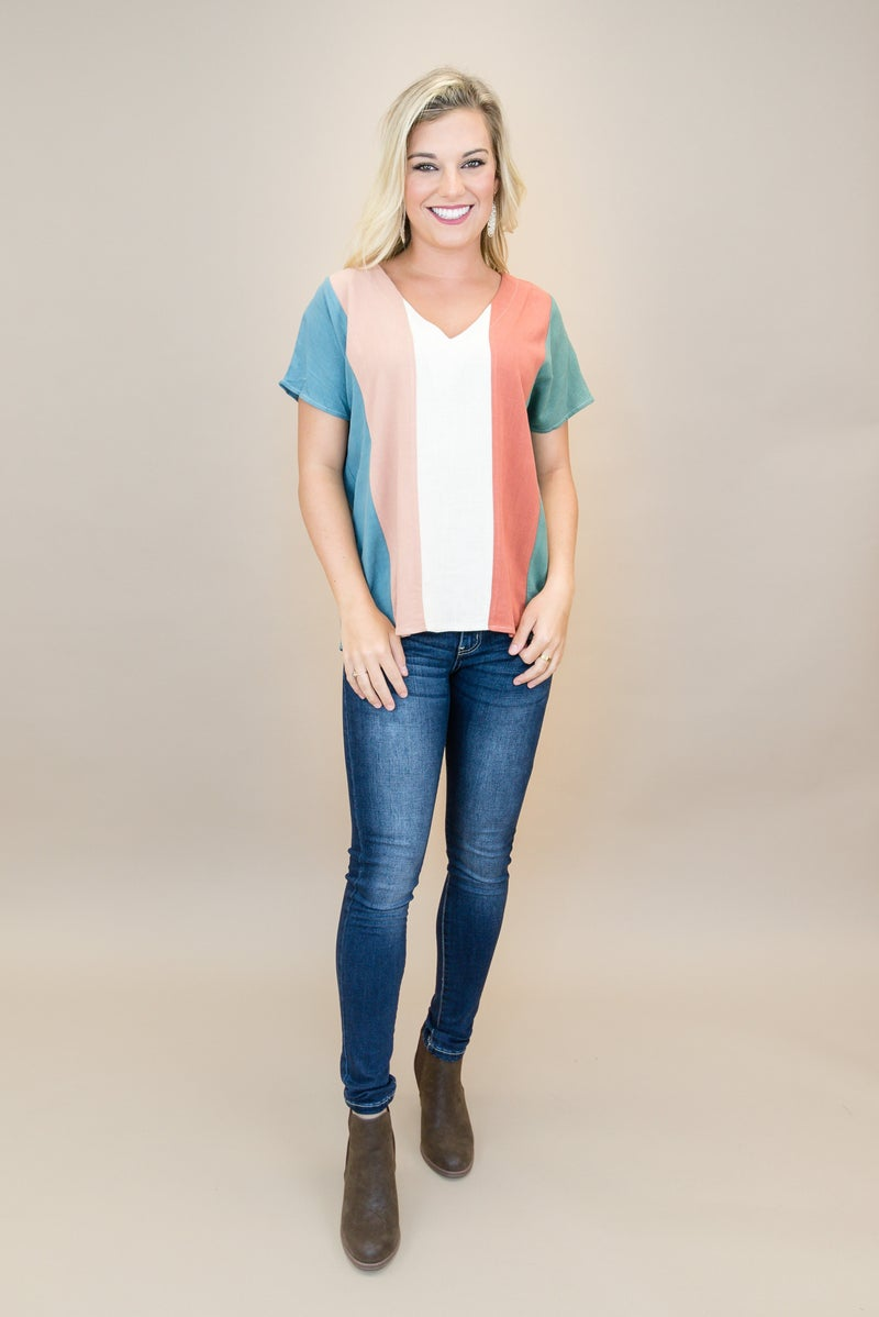 Shades of Fall Top *ALL SALES FINAL*