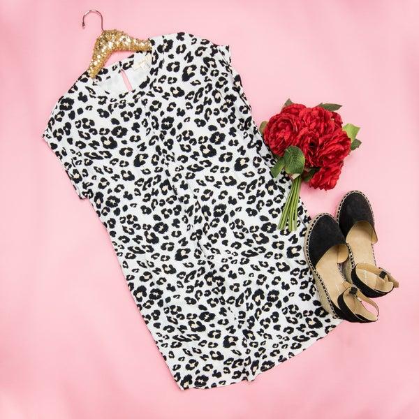 Andree Leopard Dress *all sales final*