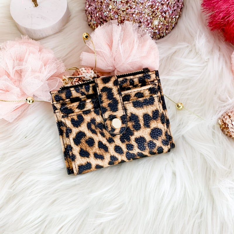 Jen & Co Mini Leopard Wallet