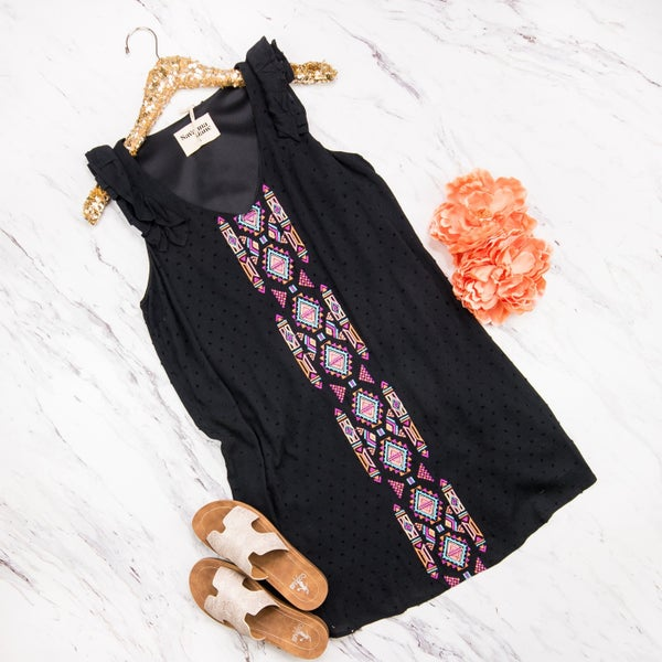 Aztec Embroidery Dress  *all sales final*