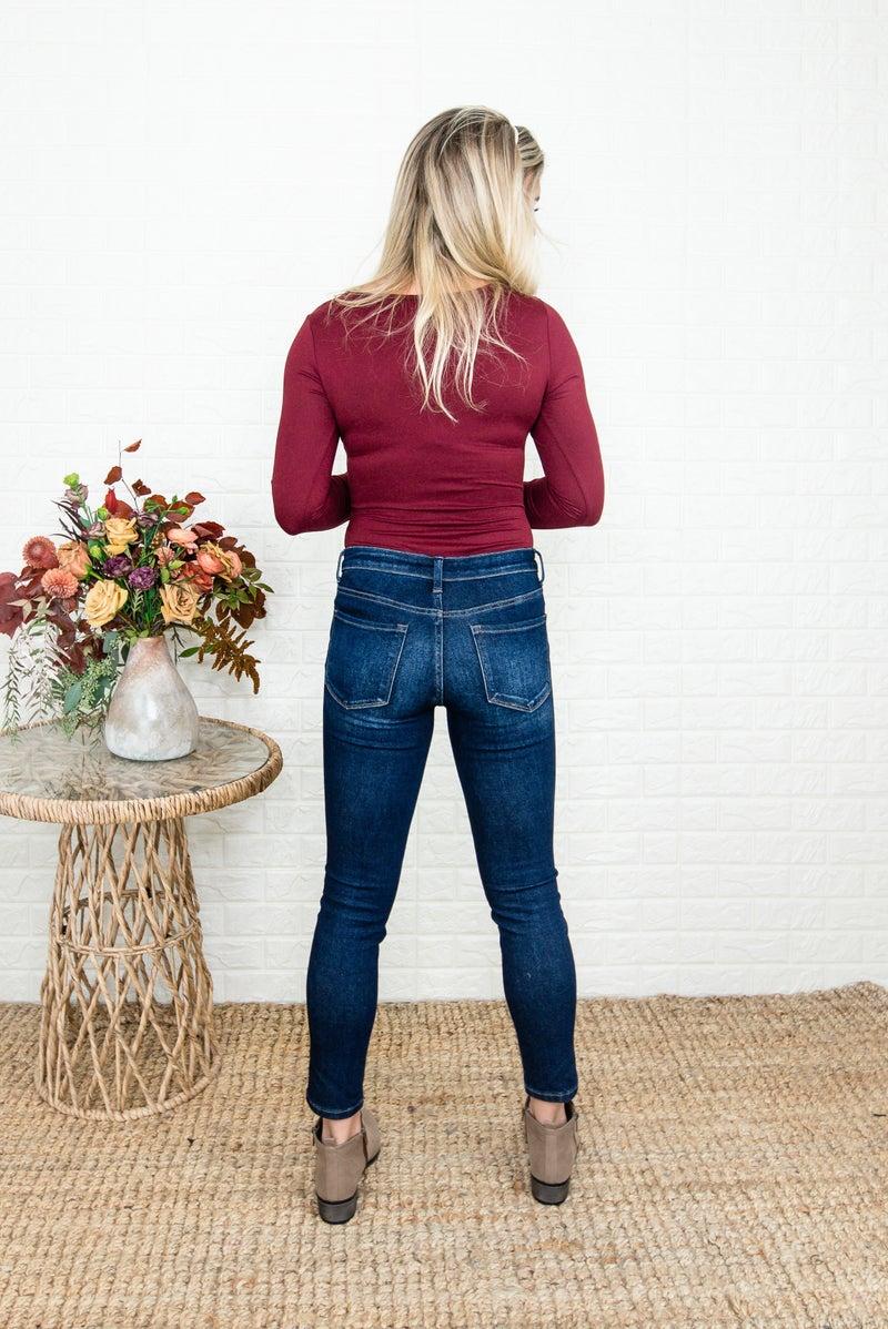 Vervet Dark Washed Skinny Jean