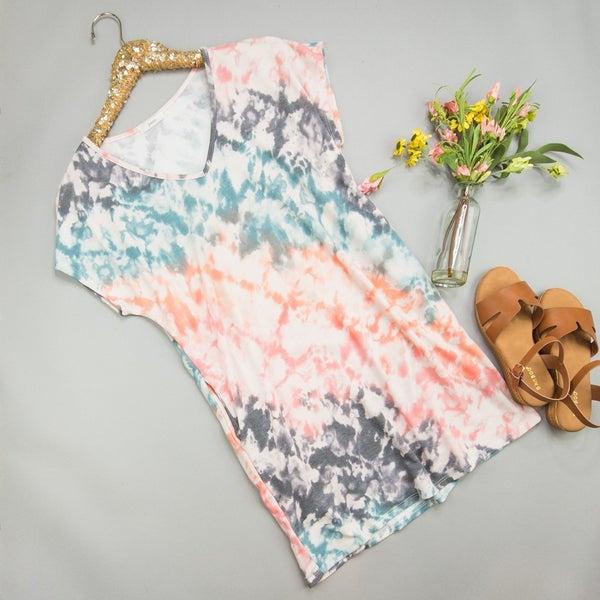 Seashell Tie Dye Dress *ALL SALES FINAL*
