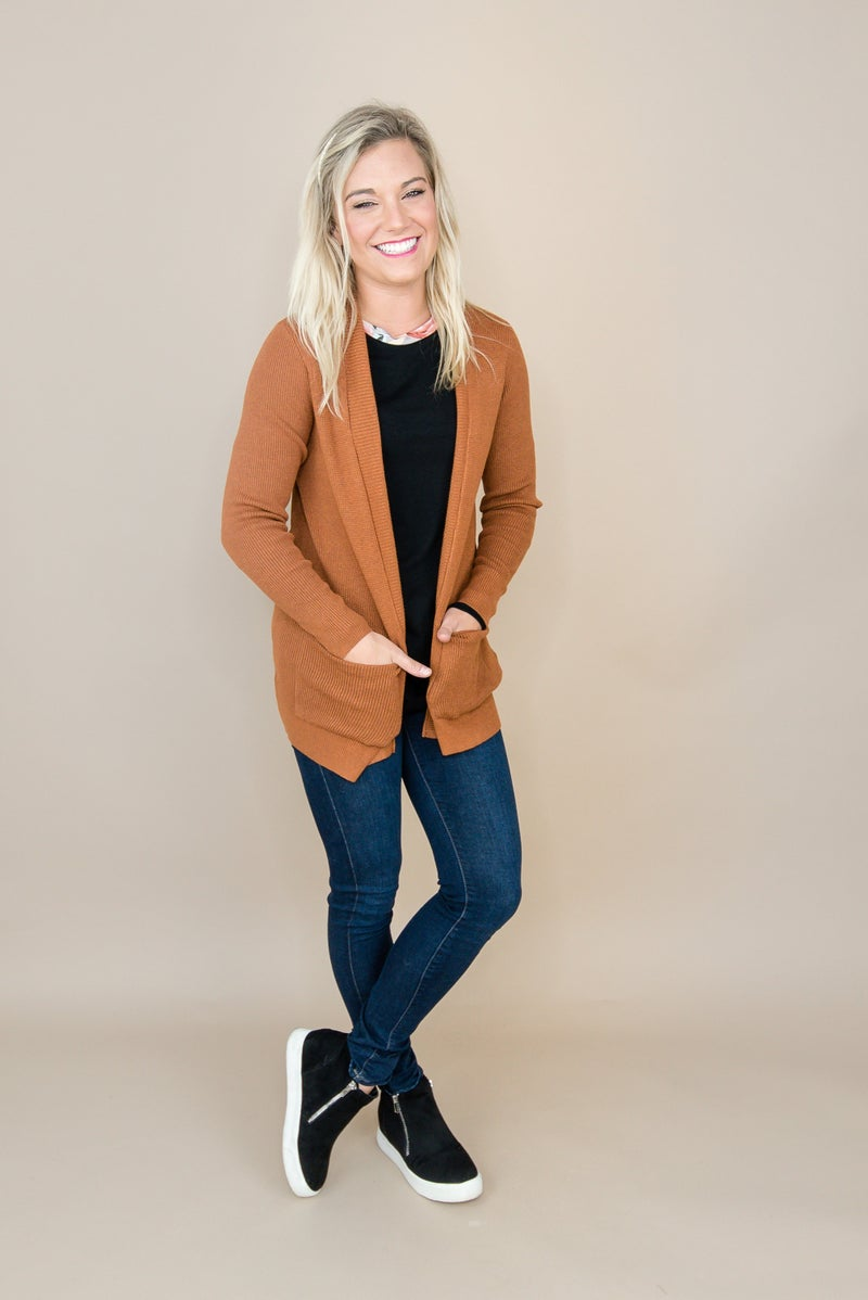 Staccato Solid Cardigan
