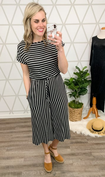 Classic Stripe Jumpsuit *all sales final*