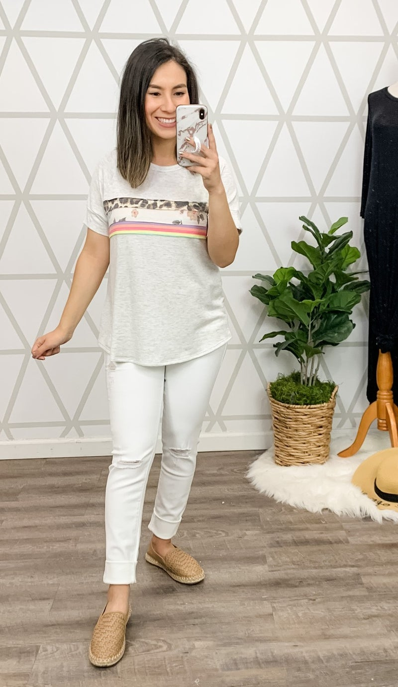 Blended Prints Heather Top