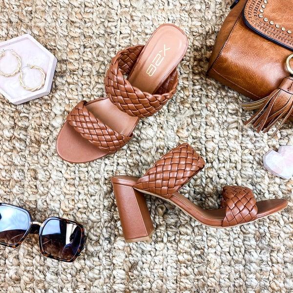 Classic Brown Braided Heel
