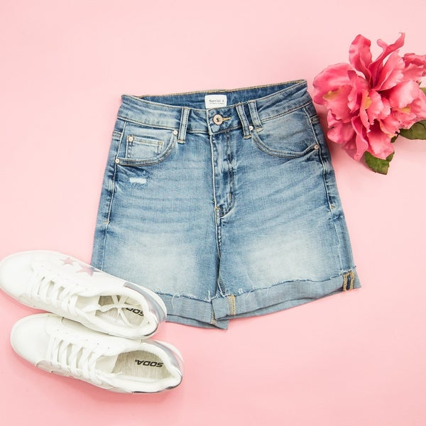 Special A High Rise Denim Shorts *ALL SALES FINAL*