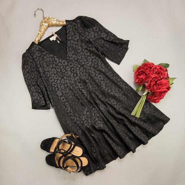 Silky Leopard Dress