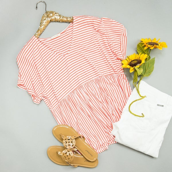 Peppermint Striped Top *all sales final*