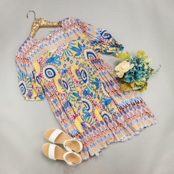 Sassy Print Dress