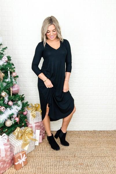 Little Black Midi Dress  *all sales final*